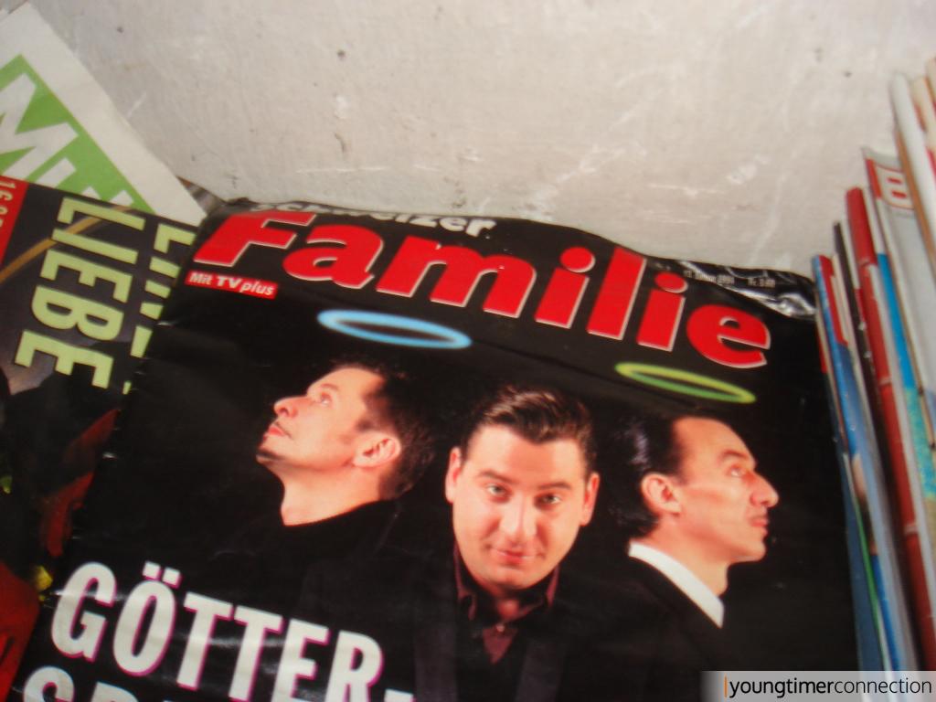 Auch eine Menge Zeitschriften aus den frühen 90ern waren anzutreffen